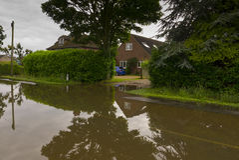 2012 inondazioni BRITANNICHE Fotografia Stock Libera da Diritti