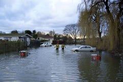 2012 inondazioni BRITANNICHE Chertsey Immagini Stock Libere da Diritti
