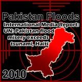 Inondazioni del Pakistan Fotografie Stock