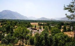 Inondazioni del Pakistan e valutazione di Buner Fotografia Stock