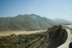 Inondazioni del Pakistan e valutazione di Buner Fotografie Stock
