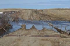 Inondazioni della primavera Fotografia Stock