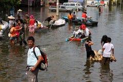 Inondazioni della Tailandia Fotografie Stock Libere da Diritti