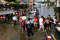 Inondazioni della Tailandia Fotografia Stock