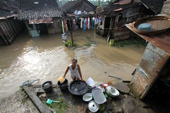 Inondazioni dentro da solo Fotografia Stock Libera da Diritti