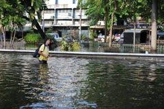 Inondazioni di Bangkok Immagini Stock