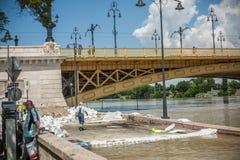Inondazioni di Budapest Immagine Stock