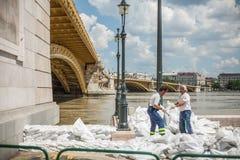 Inondazioni di Budapest Immagini Stock