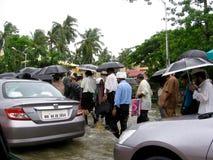 Inondazioni in India Fotografia Stock