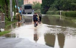 Inondazioni nella repubblica ceca Fotografia Stock Libera da Diritti