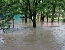 Inondazioni a Praga 2013 fotografie stock