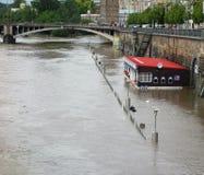 Inondazioni a Praga 2013 fotografia stock libera da diritti