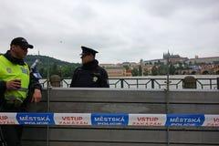 Inondazioni a Praga 2013 immagini stock libere da diritti