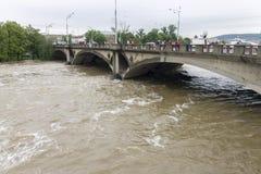 Inondazioni Praga giugno 2013 Fotografie Stock Libere da Diritti