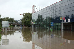 Inondazioni a Praga, repubblica Ceca, giugno 2013 Fotografie Stock Libere da Diritti