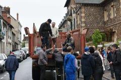 Inondazioni sulla città dei nemours Fotografie Stock Libere da Diritti