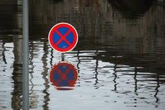 Inondazioni in Usti nad Labem, repubblica Ceca Fotografie Stock Libere da Diritti
