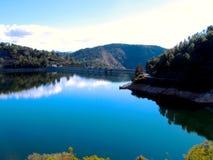 Inondez le réservoir de Tranco en Espagne photographie stock