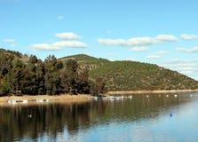 Inondez le réservoir de Tranco en Espagne photo stock