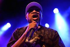 Inondi Dogg, la banda americana di musica soul, la prestazione nella fase di Barts Fotografia Stock Libera da Diritti