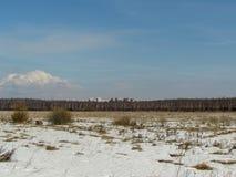 Inondi quasi Mosca fotografia stock libera da diritti