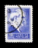 Inonu 1884-1973, serie总统,大约1942年 免版税库存图片