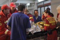 27 inoperantes no fogo do clube noturno de Bucareste Colectiv Imagem de Stock