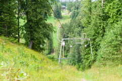 Inoperative rusty ski lift Royalty Free Stock Photography
