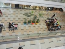 Inorbit mall, vashi, navi mumbai , maharashtra ,india , 14 November 2017 :all floor view inside mall with people doing shopping Royalty Free Stock Photo