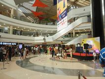 Inorbit mall, vashi, navi mumbai , maharashtra ,india , 14 November 2017 :view inside mall with people crowd Royalty Free Stock Images