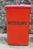 Inorganic Waste Container Royalty Free Stock Photography