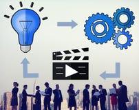 Inovação de conexão Conce criativo da inspiração da conexão da ideia imagens de stock