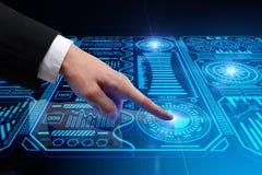 Inovação, futuro e conceito do usuário Foto de Stock