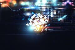 Inovação no fundo digital do mundo rendição 3d Fotografia de Stock Royalty Free