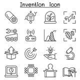 A inovação & o ícone criativo do conceito da ideia ajustaram-se na linha estilo fina ilustração royalty free