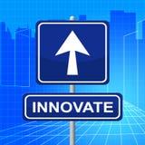 Inova o sinal representa a reestruturação e a inovação da transformação Foto de Stock Royalty Free