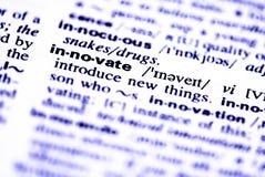 Inova a palavra Foto de Stock Royalty Free