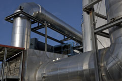 Inox. Stainless steel pipes in all sizes Stock Photography