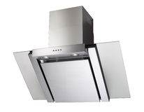 INOX cooker hood Stock Photo