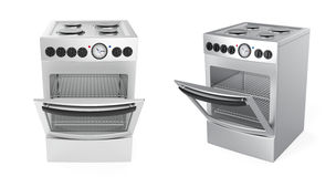 Inox electric cookers Royalty Free Stock Images