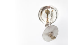 Inox house key safe Stock Photography