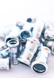 Inox stainless steel instalation fittings Royalty Free Stock Photo