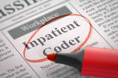 Inpatient Coder Wanted. 3D Illustration. Stock Image