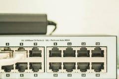 Input aan de computer Stock Foto