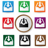 Input buttons,vector. Input buttons,Colorful buttons,vector Royalty Free Stock Images