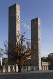 Input columns Olympic Stadium Stock Image