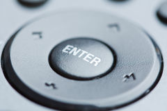 Input device - Enter. Black input device with enter button Royalty Free Stock Photography