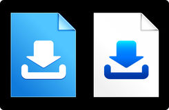 Input Icons on Paper Set Royalty Free Stock Images