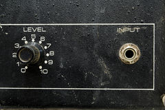 Input and level knob Stock Images