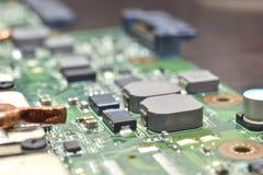 Input/output controller hub. Southbridge on motherboard (input/output controller hub stock photography